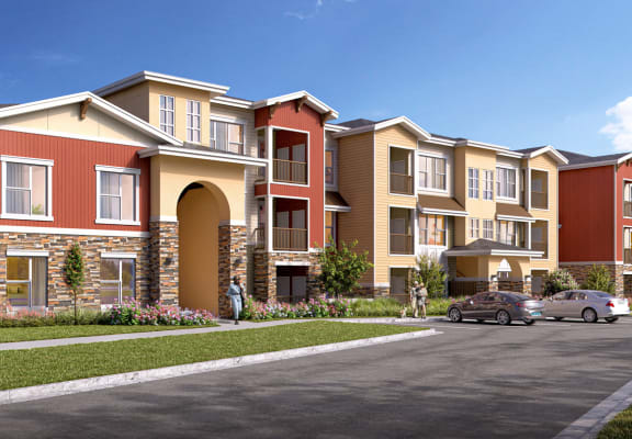 South Range Crossings_Exterior Building Type 3 Rendering_Main
