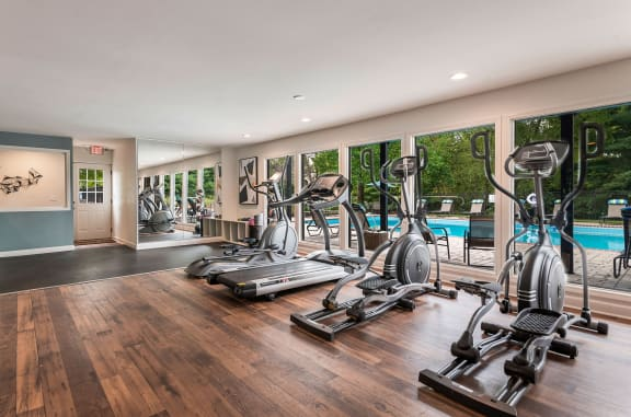 Fitness Center at Carrington Apartments in Hendersonville TN March 2021
