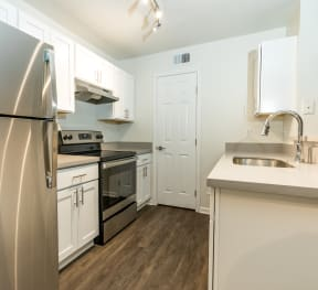 Kitchen with stainless steel appliances | Monterey Ranch