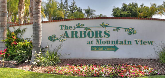 Welcoming Property Signage at The Arbors at Mountain View, Mountain View, 94040