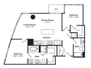 Floorplan at Cirrus, Washington