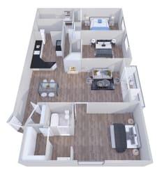 3x2- GoGo Heights Floor Plan