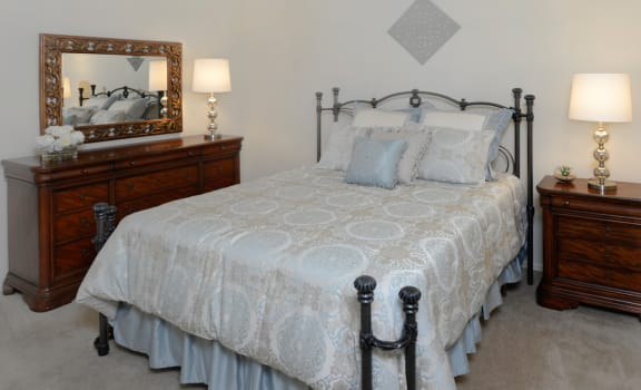 Master bedroom at Seven Oaks Townhomes