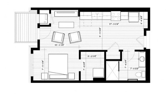 Floor Plan  Nuthatch Floor Plan at Birdtown Flats, Robbinsdale, MN