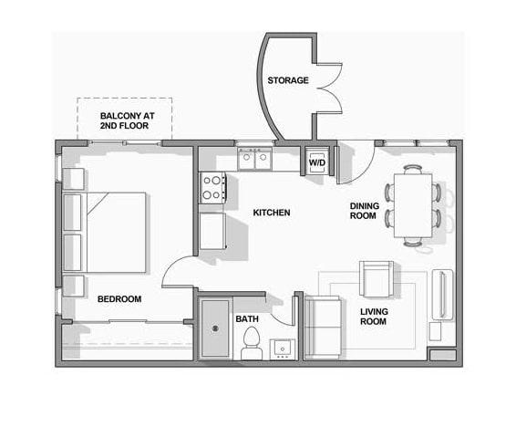 Floor Plan  1BR x 1BA