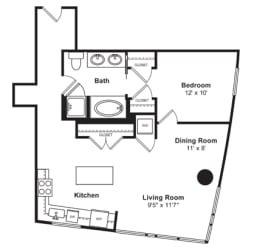 Floorplan at Cirrus, Seattle, Washington