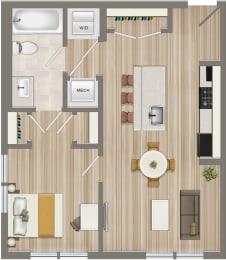 Floor Plan One Bedroom-05 Tier