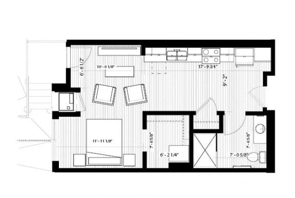 Floor Plan  Dove Floor Plan at Birdtown Flats, Robbinsdale, MN, 55422