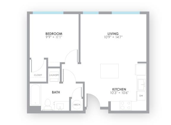 Floor Plan  Relay Floor Plan at AMP Apartments, Kentucky, 40206