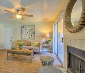 Living room with fireplace | Vizcaya