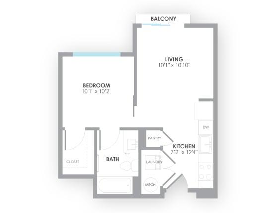 Floor Plan  Turbine Floor Plan at AMP Apartments, Louisville, 40206