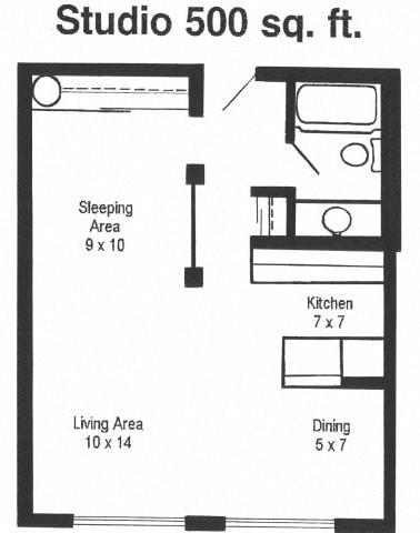 Floor Plan  TheBluffs_FloorPlan_Studio