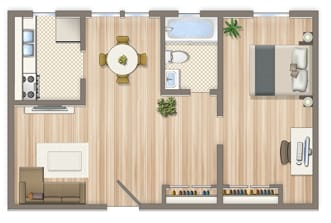 525-Square-Foot-One-Bedroom-Apartment-Floorplan-Available-For-Rent-Alpha-House