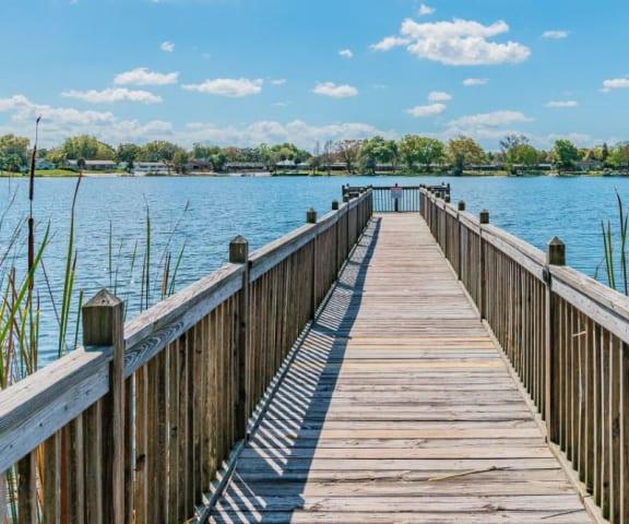 Dock Areaat Enclave at Lake Underhill, Orlando, FL