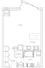 Eitel Apartments A2 Studio floor plan