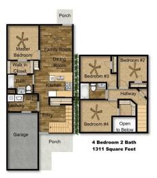 Floor Plan 4x2