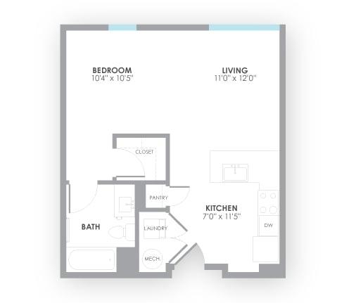 Floor Plan  Surge2 Floor Plan at AMP Apartments, Louisville
