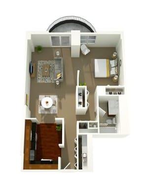 Floor Plan  1 Bedroom 05