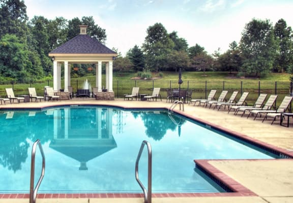 spacious sparkling swimming pool at The Bradford at Easton Apartments, Columbus, OH, 43230