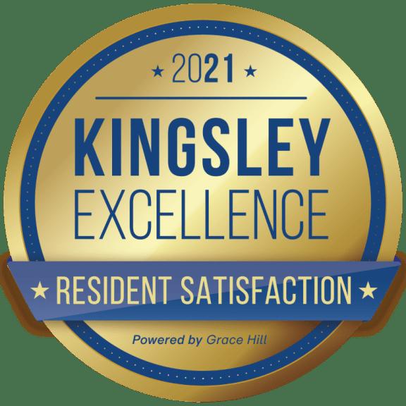 2021 Kingsley Excellence Winner for Resident Satisfaction