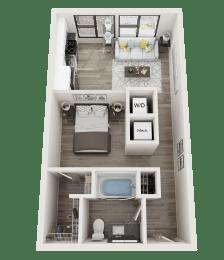 S1 Floor Plan at Link Apartments® Innovation Quarter, Winston Salem, NC