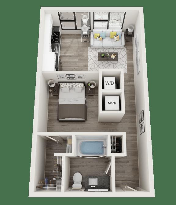 Floor Plan  S1 Floor Plan at Link Apartments® Innovation Quarter, Winston Salem, NC