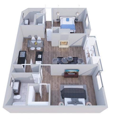 Floor Plan  2x2a- GoGo Heights Floor Plan