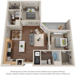 Floor Plan  Solstice of Mesa_2 Bedroom A