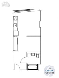 Floor Plan  The Louisa Flowers Studio Floor Plan