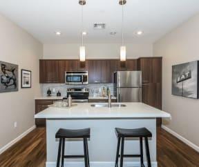 Kitchen with granite countertops | Canyons at Linda Vista Trail