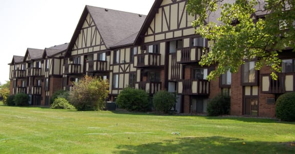 Balconies with Views at Normandy Village Apartments in Michigan City, Indiana