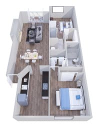 2x2b- GoGo Heights Floor Plan