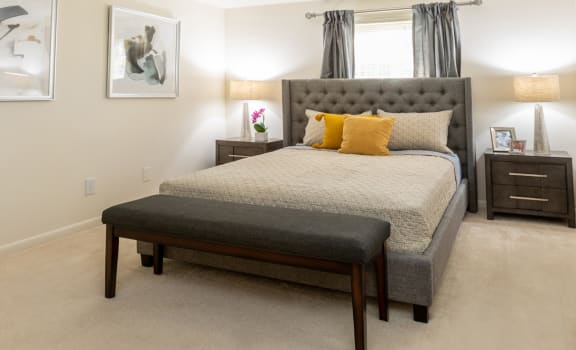 Huge master bedroom with on suite bathroom and large closet at Spring Hill Townhomes