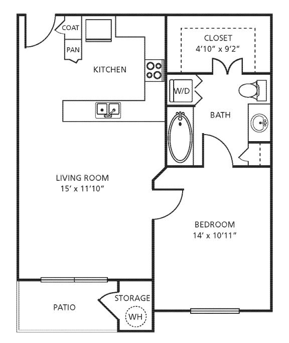 Floor Plan  A1 Floor Plan at Providence Uptown, Houston, TX
