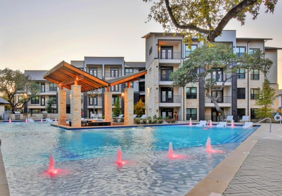 Resort style pool at Windsor Ridge, Austin, TX