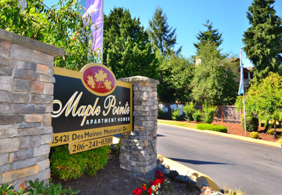 Maple Pointe Apartments Property Entry Monument Sign