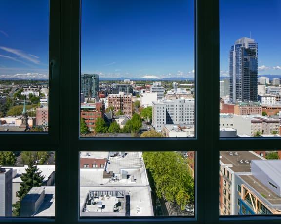 City & Mountain Views