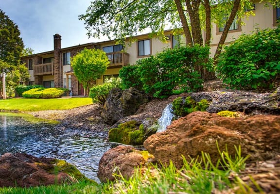 Beautiful Landscaping and Park-like Setting at The Moorings, Roselle