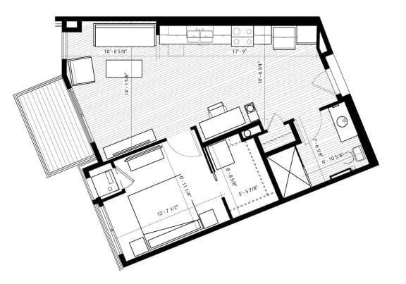 Floor Plan  Finch Floor Plan at Birdtown Flats, Robbinsdale, 55422