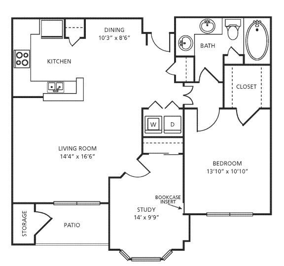Floor Plan  A4D Floor Plan at Providence Uptown, Houston, TX