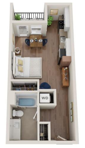 Floor Plan  The Morgan PDX Studio