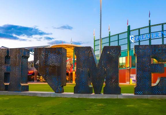 Reno, Nevada Reno Aces Exterior HOME Lettering Sculpture