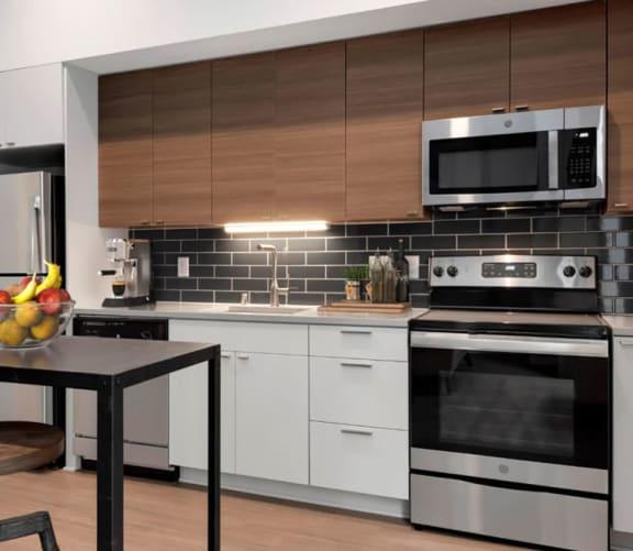 Kitchen With Virtually Staged Furniture's at Viridium, Minneapolis, 55401