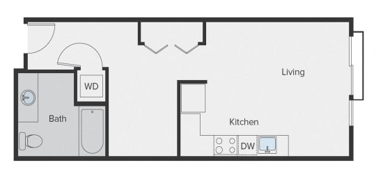 Sparc Apartments Studio Floor Plan