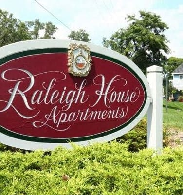 Welcoming Sign at Raleigh House Apartments,  MRD Apartments, Michigan, 48823