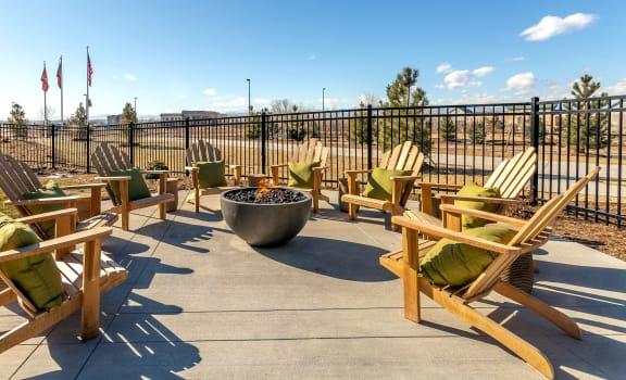 Quaint Fireplace Sitting Area at Railway Flats Apartments, Loveland, 80538