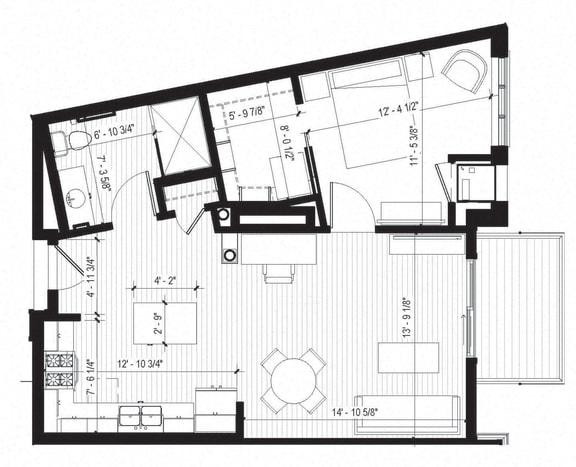Floor Plan  Cardinal Floorplan at Bird Town Flats, Robbinsdale