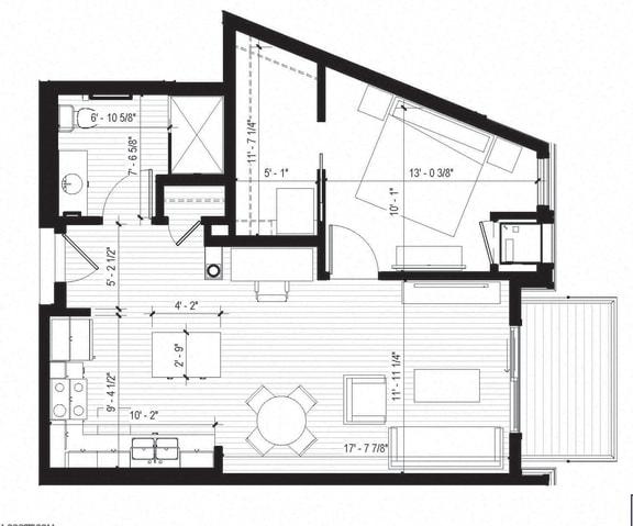 Floor Plan  Oriole Floorplan at Bird Town Flats, Robbinsdale, MN, 55422