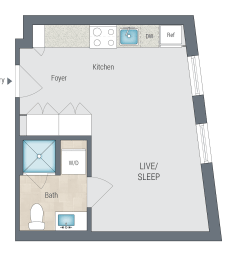 S3 Floor Plan at Reed Row, Washington, DC