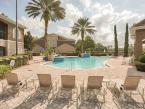 Community Pool with Lounge Chairs   Ballantrae